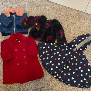 Lot of 4 Coats/Jackets Girls Size 12 Months
